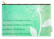 Fruit Of The Spirit Carry-all Pouch by Linda Woods