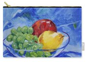 Fruit On Blue Carry-all Pouch