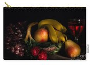 Fruit Still Life With Wine Carry-all Pouch