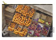 Fruit Vendor In The Kahn Carry-all Pouch by Mary Machare