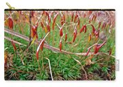 Fruiting Moss - Red And Green Tableau Carry-all Pouch
