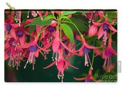 Fuchsia Windchime Flowers Carry-all Pouch