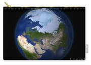 Full Earth Showing The Arctic Region Carry-all Pouch by Stocktrek Images