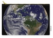 Full Earth Showing Two Tropical Storms Carry-all Pouch