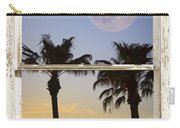 Full Moon Palm Tree Picture Window Sunset Carry-all Pouch