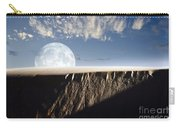 Full Moon Rising Above A Sand Dune Carry-all Pouch