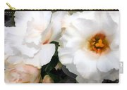 Full White Roses Carry-all Pouch