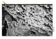 Fungi Black And White Carry-all Pouch