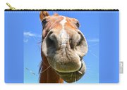 Funny Brown Horse Face Carry-all Pouch by Jennie Marie Schell