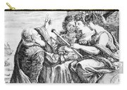 Galileo With Telescope Pointing To Sky Carry-all Pouch