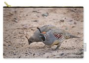 Gambels Quail Pair Carry-all Pouch