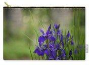 Garden Blue Irises Carry-all Pouch