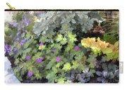 Garden Flower Border Carry-all Pouch