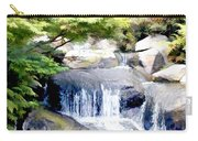 Garden Waterfall With Koi Pond Carry-all Pouch