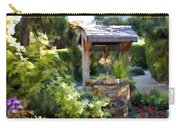 Garden Wishing Well Carry-all Pouch