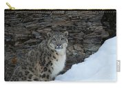 Gaze Of The Snow Leopard Carry-all Pouch