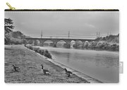 Geese Along The Schuylkill River Carry-all Pouch