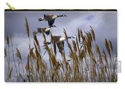 Geese Coming In For A Landing Carry-all Pouch