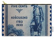 General Kosciuszko Postage Stamp Carry-all Pouch