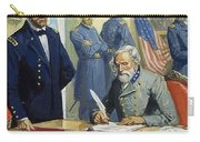 General Ulysses Grant Accepting The Surrender Of General Lee At Appomattox  Carry-all Pouch by Severino Baraldi