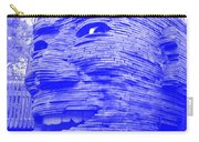 Gentle Giant In Negative Blue Carry-all Pouch