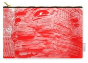 Gentle Giant In Negative Red Carry-all Pouch