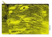 Gentle Giant In Negative Yellow Carry-all Pouch