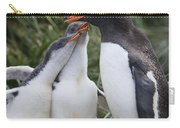 Gentoo Penguin Parent And Two Chicks Carry-all Pouch
