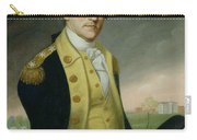George Washington At Princeton Carry-all Pouch by Charles P Polk