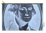 George Washington In Negative Cyan Carry-all Pouch