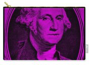 George Washington In Purple Carry-all Pouch