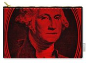 George Washington In Red Carry-all Pouch