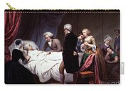 George Washington On His Death Bed Carry-all Pouch