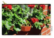 Geraniums In Germany Carry-all Pouch by Carol Groenen