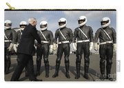 German Motorcycle Police Shake Hands Carry-all Pouch by Stocktrek Images