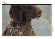 German Pointer Portrait Of A Dog Carry-all Pouch