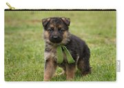German Shepherd Puppy In Grass Carry-all Pouch by Sandy Keeton