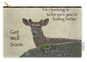 Get Well Card - Whitetail Deer In Velvet Carry-all Pouch