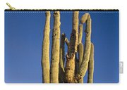 Giant Saguaro Cactus Portrait With Blue Sky Carry-all Pouch