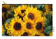 Giant Sunflowers For Sale In The Swiss City Of Lucerne Carry-all Pouch