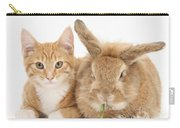 Ginger Kitten With Sandy Lionhead-cross Carry-all Pouch