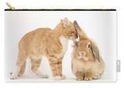 Ginger Kitten With Sandy Lionhead Rabbit Carry-all Pouch