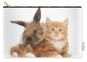 Ginger Kitten Young Lionhead-lop Rabbit Carry-all Pouch