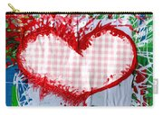 Gingham Crazy Heart Carry-all Pouch