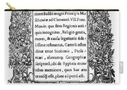 Giovio: Title Page, 1525 Carry-all Pouch