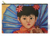 Girl And Umbrella Carry-all Pouch