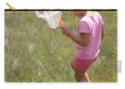 Girl Collecting Insects In A Meadow Carry-all Pouch