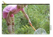 Girl Collects Insects In A Meadow Carry-all Pouch by Ted Kinsman