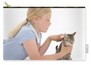 Girl Grooming Kitten Carry-all Pouch