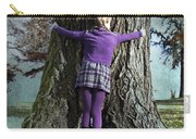 Girl Hugging Tree Trunk Carry-all Pouch by Joana Kruse
